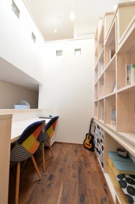 スキップフロアの書斎