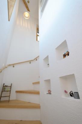遊び心あふれる階段スペース