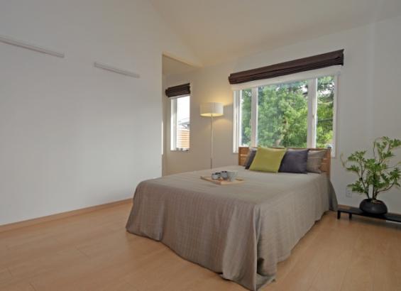 寝室|やわらかな光に包まれて起きる朝は清々しいですよね?そんな寝室をイメージしました