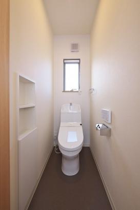 家計に嬉しい節水型トイレ。