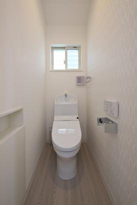 家計にもやさしい節水型のトイレ。