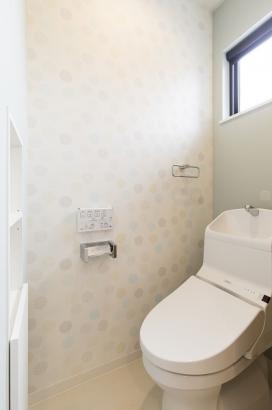 家計にやさしい節水型のトイレ。