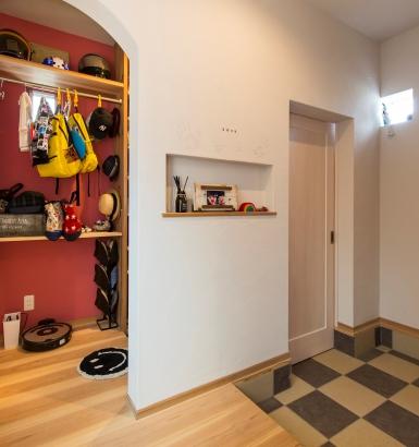 家族用の玄関とお客様用の玄関