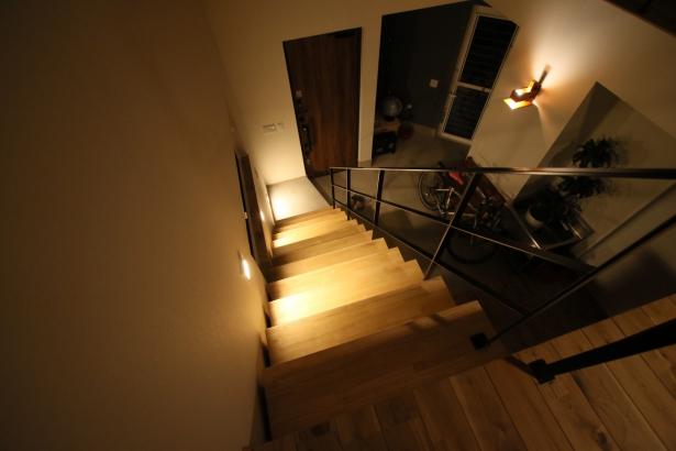 家族を守り、3世代住み継げる家 モデル 2階 夜