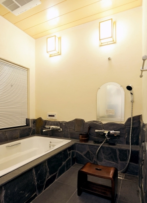 高級旅館のような浴室