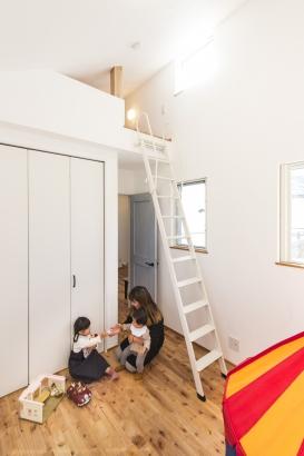ロフト付きの子ども部屋