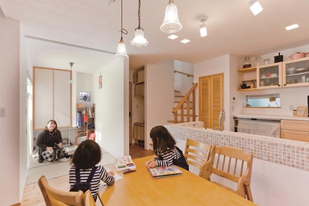 27坪の家。和室とLDKがつながる、どこにいても家族を感じられる。