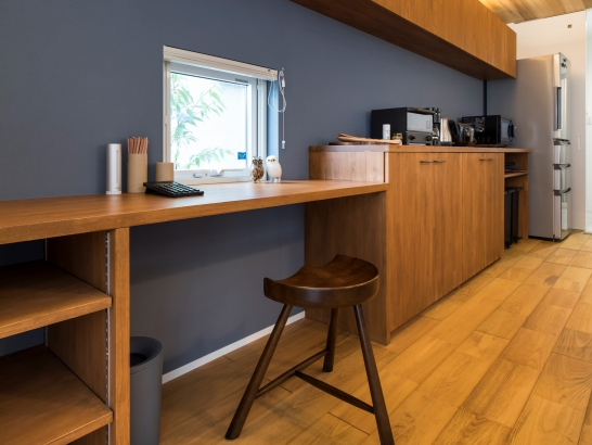 キッチン収納+ワークスペース