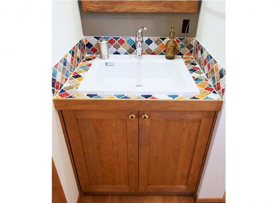 世界に一つだけの造作洗面台