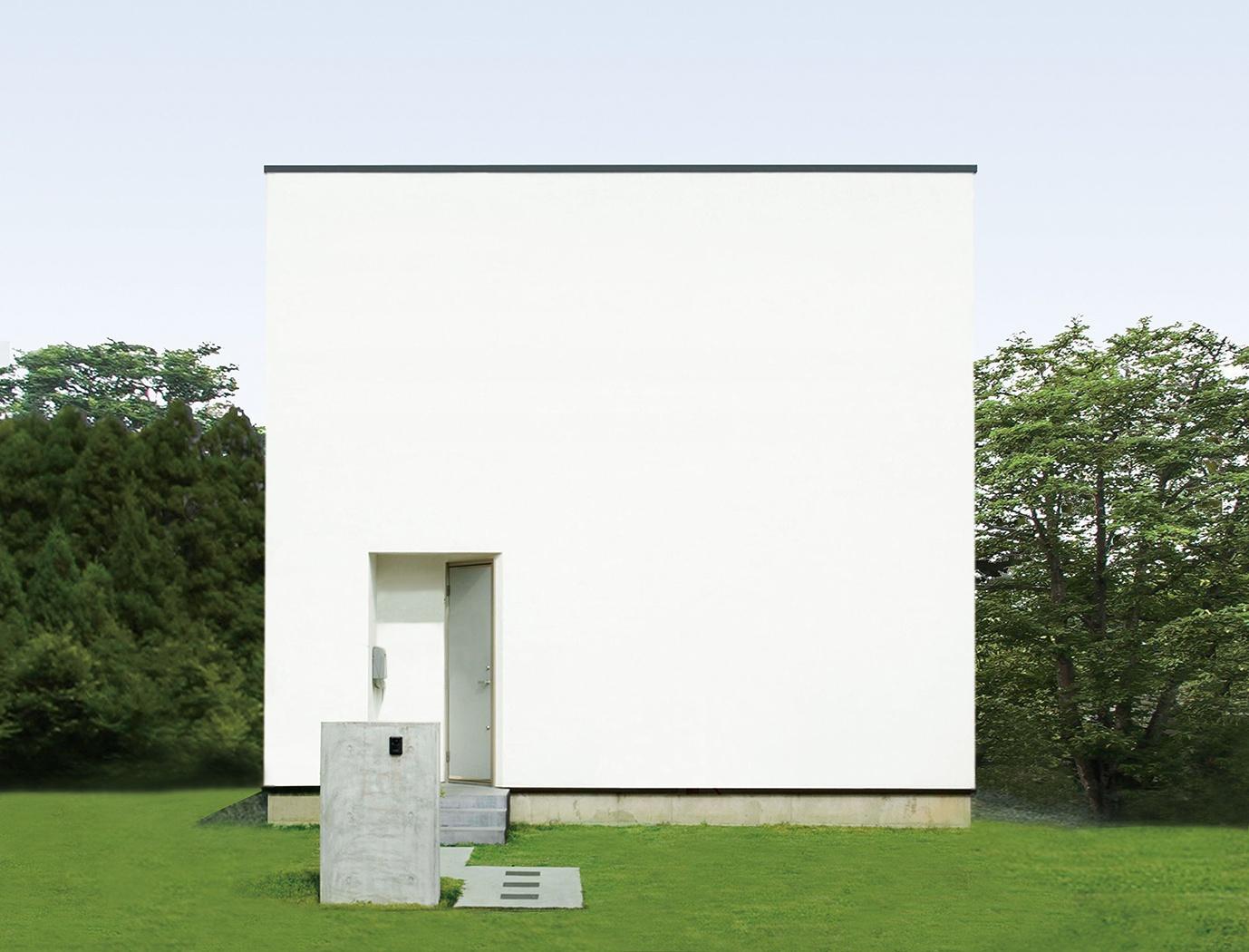 シンプルで美しい、四角い家